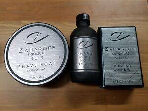 Zaharoff Signature Noir Shaving Soap, After Shave Splash & Soap Used