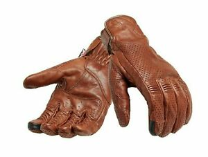Triumph Mens Banner Brown Motorcycle Gloves MGVS20119