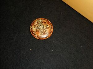 1935 Conservation Department Deer Hunting license button, State of N.Y.