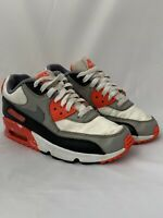 Nike Air Max 90 Ultra Boys White Cool Grey Infrared Shoes 833412-102 Size 4.5