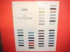 1963 CHRYSLER IMPERIAL PLYMOUTH DODGE 880 DART GT EXTERIOR+INTERIOR PAINT CHIPS