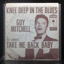 """Guy Mitchell - Knee Deep In The Blues 7"""" VG+ Vinyl 45 Columbia 4-40820 USA 1957"""