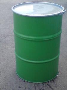 Regentonne 200 Liter, Blechfass, Ölfass, Wassertonne, Metalfass, Grilltonne