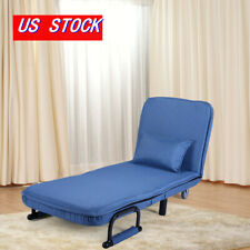 Bed Sofa Folding Arm Chair Width Convertible Sleeper Recliner Lounge New