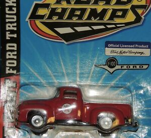 1956 RED TEXACO FORD F-100 PICK UP 1:43 SCALE by Road Champs