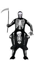 Skeleton Ride On Me Carry Piggy Back Halloween Fancy Dress Costume Adult Mens