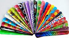 Slap Snap Bands Bulk Lot x 20 Mixed Wrist Kids Party Favor Novelty Toys NEW