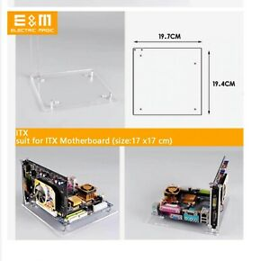 PC Open Frame Test Bench Motherboard Transparent Acrylic ITX + GPU HOLDER