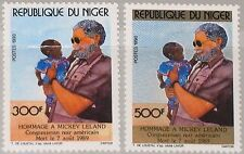 NIGER 1990 1095-96 815-16 US Congressman Mickey Leland Humaniterian Mission MNH