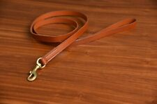Heavy Duty Leather Dog Leash Pet Control 6 Ft Long Strong Lead Large For Dog Tan