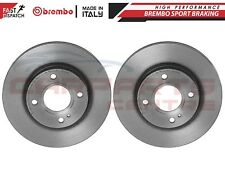 FOR FORD FIESTA VI 2008- FRONT GENUINE BREMBO BRAKE DISCS DISC 258mm 09.A968.21