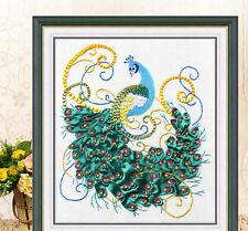 DIY Ribbon Embroidery Kits Handmade 60*65 Peacock Home Decor