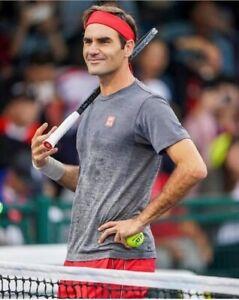 Tee-shirt gris dégradé Federer