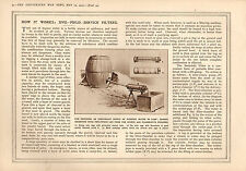 1915 WWI PRINT ~ FIELD SERVICE FILTERS PROVIDING WATER IN CAMPS PURIFICATION