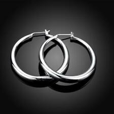 women Hoop jewelry wedding Silver Gold plated Earring Fashion Charm Beautiful