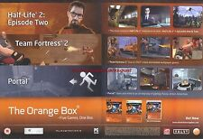 "The Orange Box ""Valve"" 2007 Magazine 2 Page Advert #5006"