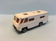 Diecast Matchbox Mobile Home in White Wear & Tear Good Condition