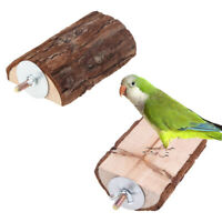 Pet Parrots Wooden Bird Cage Perches Stand Platform Parakeet Budgie Rat Play-Toy