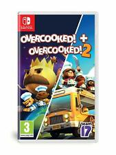 Overcooked! + Overcooked! 2 [Nintendo Switch Region Free Party Minigames] NEW