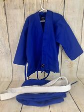 Brand New Blue Jui-jitsu Gi - Swift Brand Sz 000 With White Belt Youth Kids