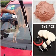 8PCS Auto Truck Glass Scrach Remover w/ 8 OZ Cerium Oxide Powder Polishing Kits