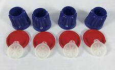 NEW Tupperware Lacquer Blue Jel-ettes Set of 4