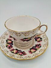 Colclough Bone China Cup & Saucer  Pattern 8248 - Apples, Pears, Grapes
