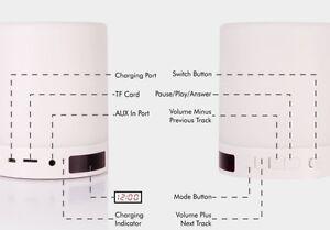 Smart Touch Lamp Bluetooth Speaker, w/Clock, FM Redio - SLS-1