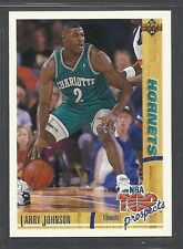 1991-92 Upper Deck - Rookie - #445 - Larry Johnson - Charlotte Hornets