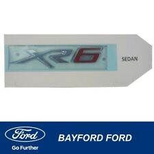 BADGE FGX XR6 (RED) BOOTLID TAILGATE SEDAN UTE ER2ZF404D52DC GENUINE FORD PART