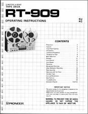 Pioneer RT-909 Reel to Reel Tape Deck Owners Manual