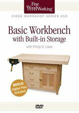 Fine Woodworking Video Workshop Series - Basic Workbench with Built-In...
