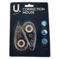 2 x Correction Mouse Roller Tape White For School Office Home Use