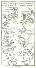 Antique map, Roads from Belfast to Killyleagh and Downpatrick (2), ..