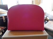 Pottery Barn Teen Leather makeup case pink New in box