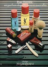 Publicité Advertising 1981  Parfum  YSL  de  YVES SAINT LAURENT  YSL  pour homme