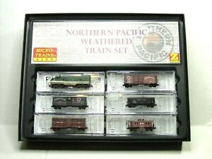 MICRO-TRAINS LINE Z SCALE NORTHERN PACIFIC WEATHERED TRAIN SET 99405190