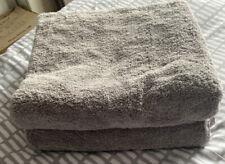 Pair Of Light Grey Bath Towels
