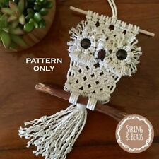 BABY OWL - DIY - MACRAME * PATTERN * - Art/Weave/Wall Decor/Rope/Cord/Boho/Retro