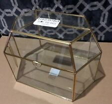 Wedding Bridal Gold Frame Glass Card Box