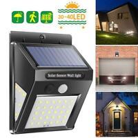 30/40LED Lampe Solaire Projecteur Capteur Détecteur Mouvement Jardin Extérieur