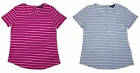 Ellen Tracy Women's Zipper Back Striped Top Blouse Choose Size & Color -E