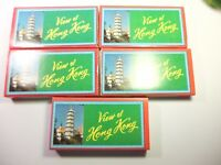 5 PACK VINTAGE MOUNTED COLOR SLIDES VIEW OF HONG KONG JOB LOT OF 5