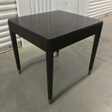Bernhardt HAVEN END TABLE Raven Walnut Veneer Metal Ferrules **4 Available**