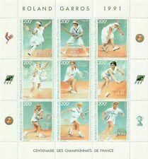 female tennis players, Ivory Coast, souvenir sheet, #901, Navratilova, Graf, etc