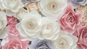 Multi Coloured Roses - Contemporary Home Wall Art Poster & Canvas Picture Prints