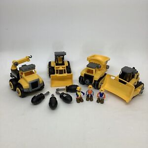 CAT Caterpillar Build Your Own Jr. Crew Bulldozer Dump Truck LOT
