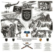 KILLER ELITE SPECIAL FORCES OPERATION IRAQI FREEDOM HALO IRON-ON SSI: 5TH SFG