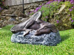 Sleeping Dragon Garden Ornament Sculpture by Firky ~ Art Stone Statue Figurine