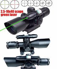 Haute qualité 2.5-10x40 fusil portée w / laser vert avec 3 moa reflex red dot hot